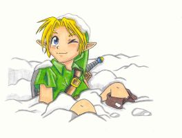 Link in the snow by Cosmo4eva
