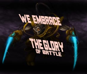 Protoss Zelot - We embrace the glory of battle by niconosave