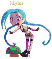 [Comm] Chibi Jinx by rodrigues-feh