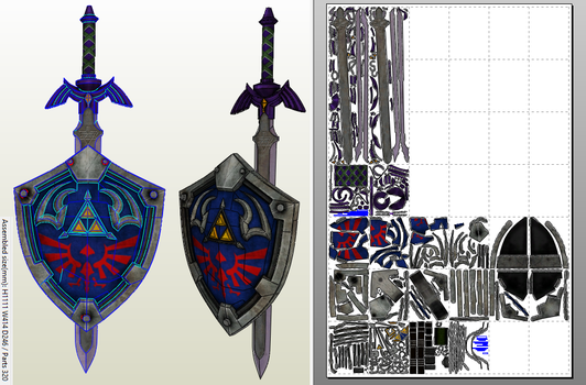 Master Sword + Hylian Shield PDO/PDF by EuTytoAlba