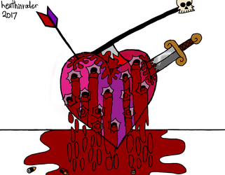 Experimental Piece #06: The Tortured Heart by heathinvader