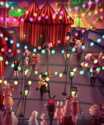 [CS]Dainty July Prompt: Sunset Carnival by CherubicSpiider
