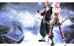 Serah x Snow wallpaper by Ceodorre