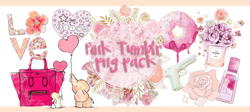 ~pink Tumblr Png Pack~ by xshawolviVIPx