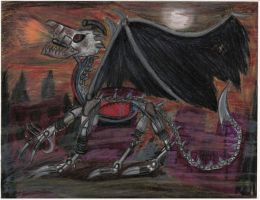 Junk Metal Dragon for 9 by Crystal-Marine