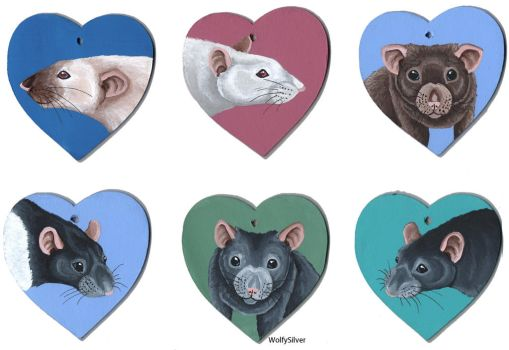 Rat Hearts by wolfysilver