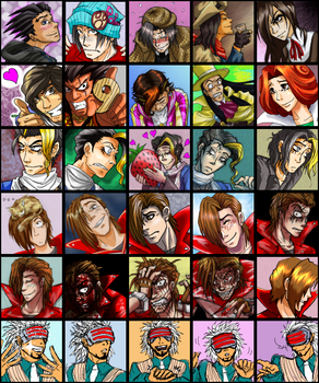 Ace Attorney icons -spoilers- by Emchromatic