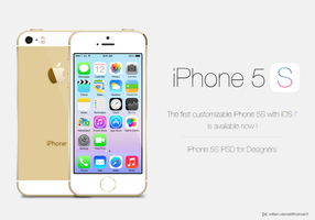iPhone 5S Gold customizable PSD by WillViennet
