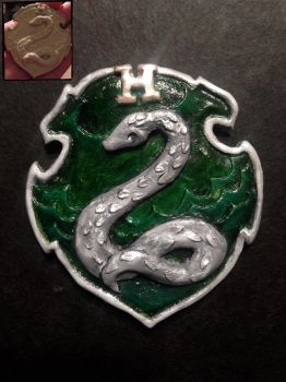 Slytherin House Crest Scultp by Hermy-one