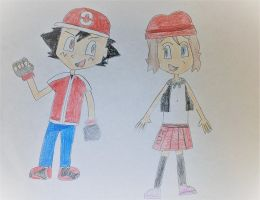 Ash and Serena Generation 8 by SuperSmash6453