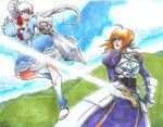 Commission - Weiss VS Saber by Orcagirl2001