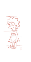 Lisa Simpson - First Attempt by TacticalError