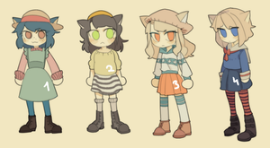(CLOSE) NEKOMIMI ADOPTABLES SET PRICE by aeternoria