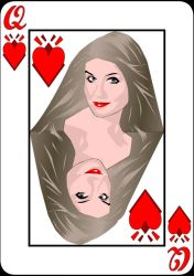 Queen of Hearts and Diamonds by ratsu