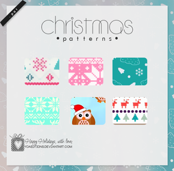 Christmas Patterns | Motivos para PS by yoaeditions