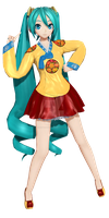 [Project Diva F] .: Korean Dress Miku :. by PiettraMarinetta