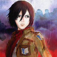 Mikasa Ackerman- Red by Pearlonthesea