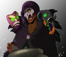 Gatsby and his little monsters by RedRingDoctor