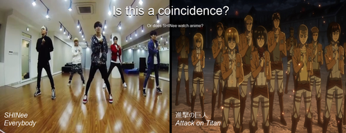 Attack on Titan salute in SHINee's everybody??? by Vocalizer