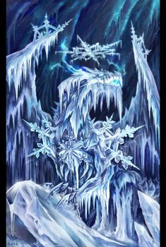 Ancient Dragon Of Ice by Maxa-art