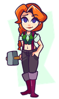 Stardew Valley - Leah by Undead-Niklos