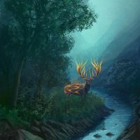 Fire Stag by peach