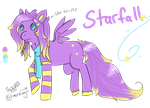 Starfall mini ref sheet by MonsterMeds