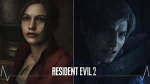 Resident Evil 2 REmake Wallpaper (Claire/Leon) 2 by Ember-Graphics