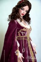 Purple Juliette - Renaissance outfit by amadiz