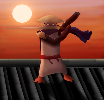 To Be a Ninja //ExtremePenguin's Art Contest Entry by MixMaster15