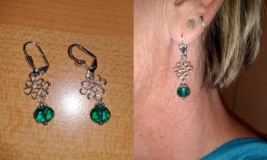 turquoise rondelle earrings by syn-O-nyms