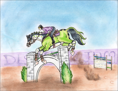DLS Show Jumping: Sabotage by BlackGlassButterfly