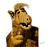 Alf digital painting by ezekdesigns