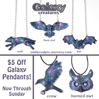 Galaxy Pendants - Flash Sale! by emilySculpts