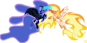 MLP Nightmare Moon VS Daybreaker by QZ by QuEeNZoDiAc