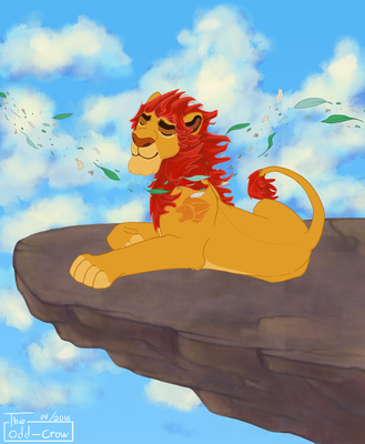 They watch over us all Kion + SPEEDPAINT by The-odd-crow