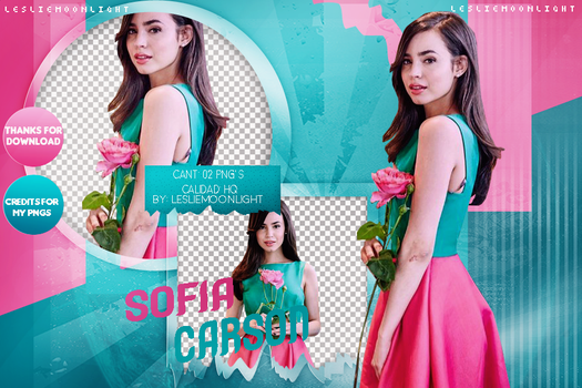 SOFIA CARSON|PACK PNG 03| LESLIE MOONLIGHT by LeslieMoonlight
