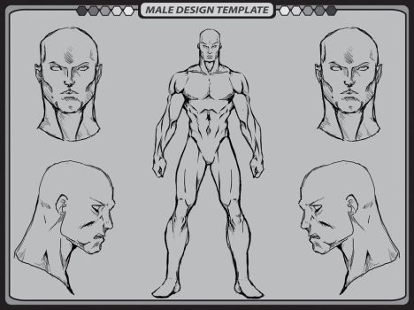 Male Template 2 by whiteknight222