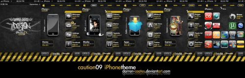 Caution09 iPhone Theme by darren-coates