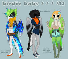 Bird Babs [ALL TAKEN] by King-Hime