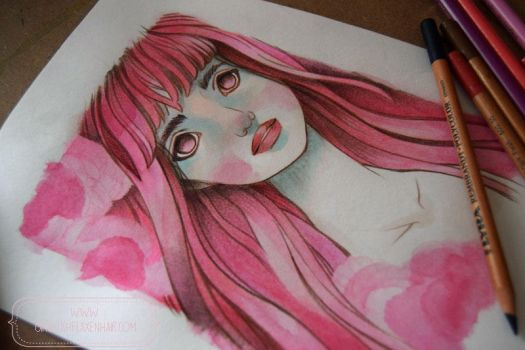 Pink Hair Girl - WIP by nati