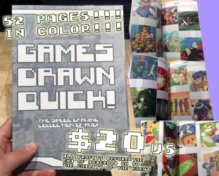 Games Drawn Quick! - Charity Book! by AndrewDickman