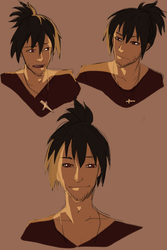 Qrow Ponytail Sketches by shana340
