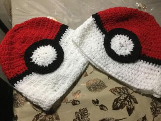 Pokmon Pokeball Handmade Crochet hat by Diamond567