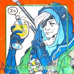 OW Ana Coaster Sketch by mkmatsumoto