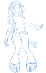 Anthro style practice sketch by Pavagat