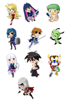 Chibis for Keychains by TerraForever