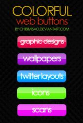 Colorful Web Button Pack by chibimisao