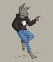 In a corner by TheLightBlueDog