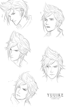 FFXV Sketches - Prompto by yuuike